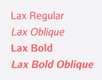 Font Lax