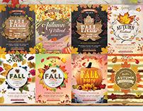 8 Autumn-Fall Flyer Bundle
