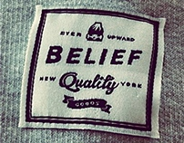Belief Sweatshirt Label