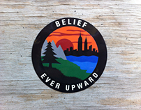 Belief 'Upstate' Sticker