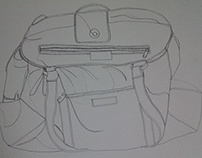 Continuous Line drawing of a bag.