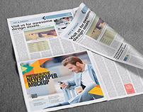 Beautiful PSD Newspaper Mockups - Vol 4