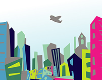 Youth Group Cityscape Vector