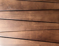 Wooden wall covering Trapezium