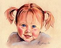 Child Portraits - Pastel & Pencil