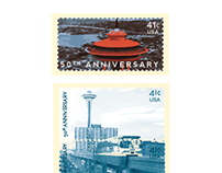 Space Needle Commemoration Stamps