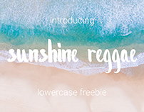 Sunshine Reggae Lowercase │Brushpen Typeface