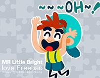 MR.Little Bright love freebao!|  Animated Sticker