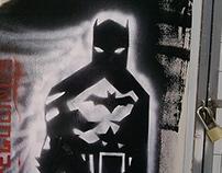 stencil based on mike mignola batman sketch