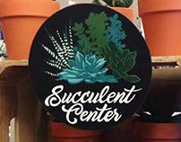 Succulent Center Sign