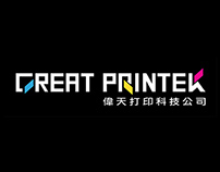 Great Printek Logo and Product sticker Design