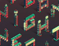 Urban Night Neons - Isometric city type