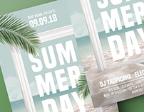 Summer Day Beach Party Flyer Template