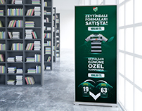 Bursaspor Sk Roll-up Tasarımı l Football Club Roll-up
