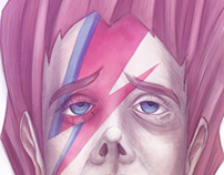ILLUSTRATION // Ziggy Stardust David Bowie