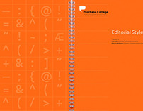 Purchase College Style Guide / Booklet Design