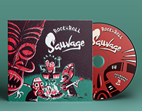 Rock'n'Roll Sauvage, diseño de CD y portada