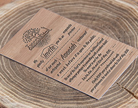 Flyer - Invite Card with Carved Wood Effect