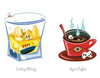 Bad Drinks (Flash Interactive Illustration)