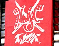 Ninja crows Taylor brand identity