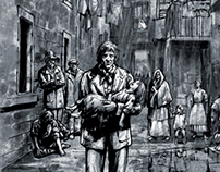 Irish Famine illustrations.