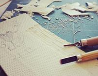 L'atelier de l'après-midi : La Linogravure
