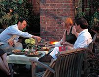 Backyard Blaze—dinner party
