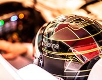Marcus Ericsson F1 2018 Abu Dhabi GP Helmet