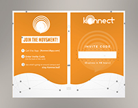 Invitation Card for KonnectApp