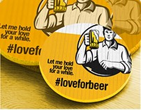 #LoveForBeer Rebranding Exercise - Collateral