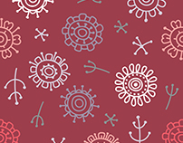 Modern abstract floral pattern