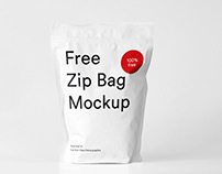 Free Zip Bag Mockup for Photoshop