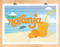 Lettering Zumo de Naranja