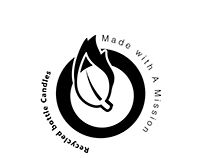 Made with a mission Recycled bottle candles