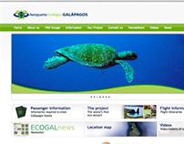 Sitio web Aeropuerto Ecológico Galápagos