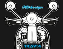 Vespa Tshirt design