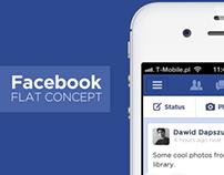 Facebook flat concept