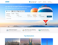 Online Flight and Hotel Booking Website Templates