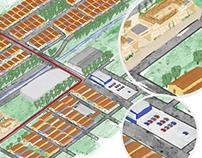 Ilustração de Mapa para Encarte