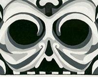Formal Skull Design - Monochromatic