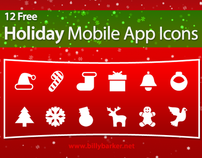 Free Holiday Mobile App Icons for Developers