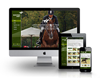 Responsive Equestrian Sports Business Catalyst Template