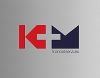 K+M Financial Logo Design