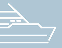 Boat Application Line Icons