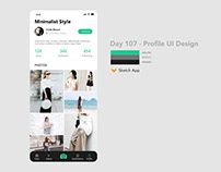 Day 107 - Profile UI Design