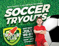 Soccer Tryouts Flyer Templates