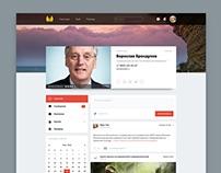 Дизайн сайта соцсети ЗКП