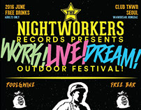 The Night Workers Records Branding Project