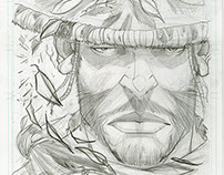 Blades 4 Higher Penciled Comic Cover