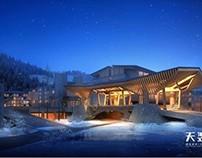 3D Renderings - Hotel & landscape